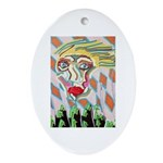All Races - Painting by Howar Oval Ornament