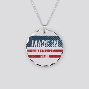 Made in Bayville, Maine Necklace Circle Charm