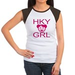 HKY GRL Women's Cap Sleeve T-Shirt