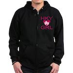HKY GRL Zip Hoodie (dark)