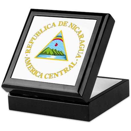 Nicaragua Coat of Arms Keepsake Box