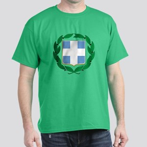 Greece Coat of Arms (Front) Dark T-Shirt