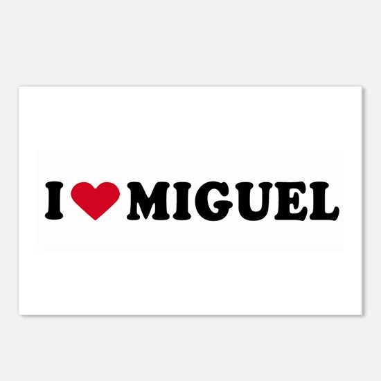 I LOVE MIGUEL ~  Postcards (Package of 8)