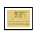 Cherokee Syllabary Framed Panel Print