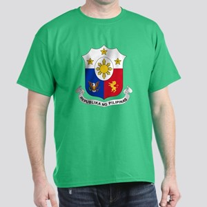 Philippines Coat of Arms (Front) Dark T-Shirt