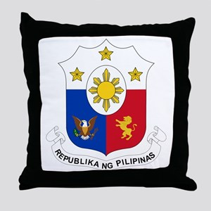 Philippines Coat of Arms Throw Pillow