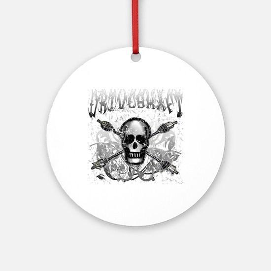 Lost Band Driveshaft Grunge Ornament (Round)