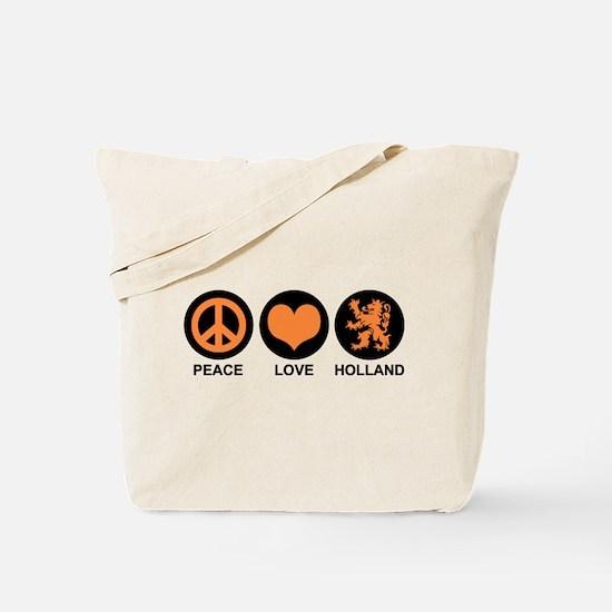 Peace Love Holland Tote Bag