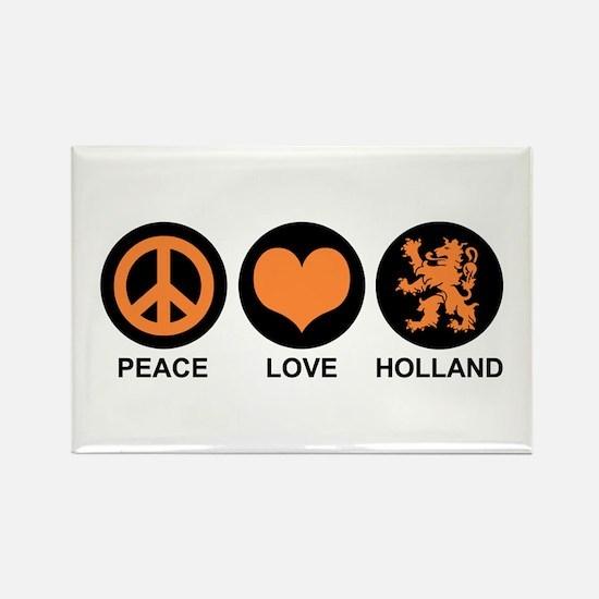 Peace Love Holland Rectangle Magnet