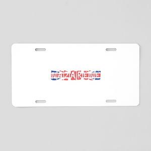 Nazarene Aluminum License Plate