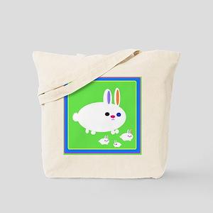 Cute Fluffy Rabbit Tote Bag