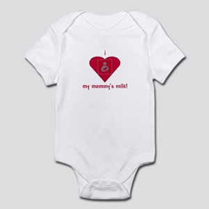 i heart my mommy's milk Infant Bodysuit