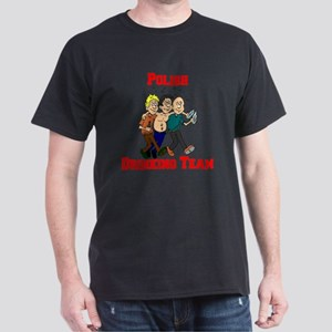 Polish Drinking Team Cartoon Dark T-Shirt