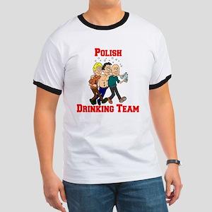Polish Drinking Team Cartoon Ringer T
