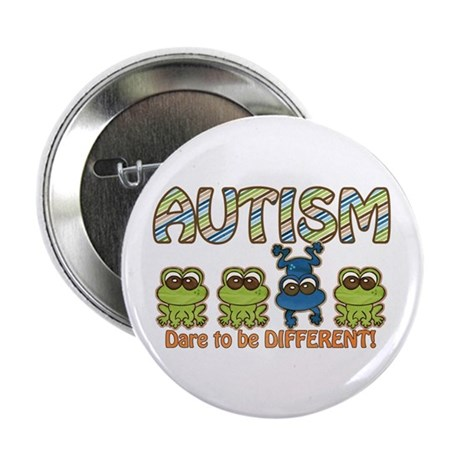 """Autism Dare to be Different 2.25"""" Button (10"""