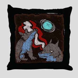 Early Cuyler 3 Wolf Moon Throw Pillow