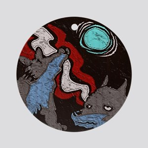 Early Cuyler 3 Wolf Moon Ornament (Round)
