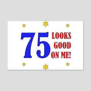 Fun 75th Birthday Mini Poster Print