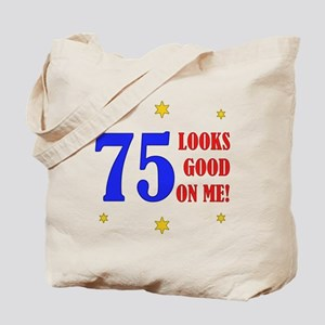 Fun 75th Birthday Tote Bag