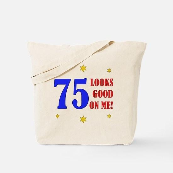 Fun 75th Birthday Tote Bag