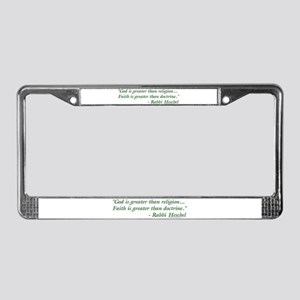 God is Greater than Religion License Plate Frame