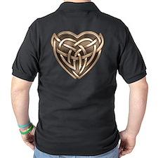 Celtic Heart Dark Polo Shirt