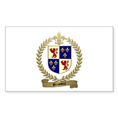 BRASSEUR Family Crest Rectangle Decal