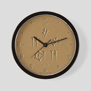 Time Flies (Sumerian/Latin) Wall Clock