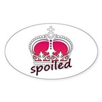 Spoiled Oval Sticker (50 pk)
