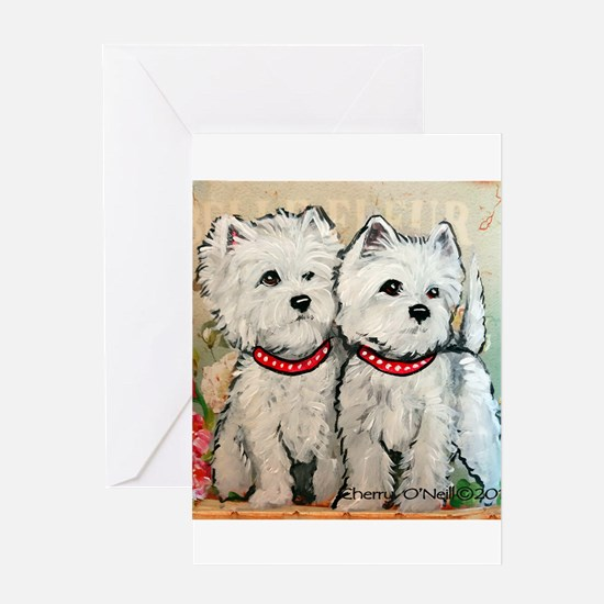 West Highland Sprin Greeting Cards