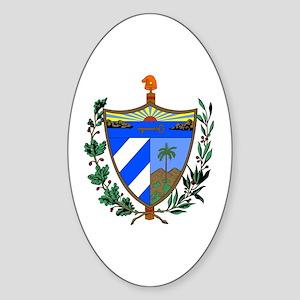 Cuba Coat of Arms Oval Sticker