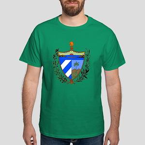 Cuba Coat of Arms (Front) Dark T-Shirt