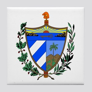 Cuba Coat of Arms Tile Coaster