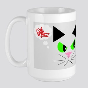 Cat vs. Dog Large Mug