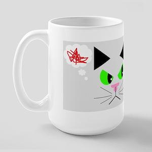 Cat vs. Dog Large Mug