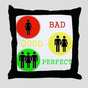Threesome - MFM Throw Pillow
