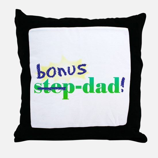 Funny Step dad Throw Pillow