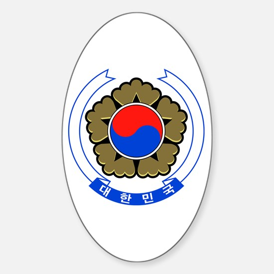 South Korea Coat of Arms Oval Decal
