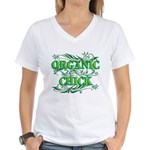 Organic Chick Women's V-Neck Shirt