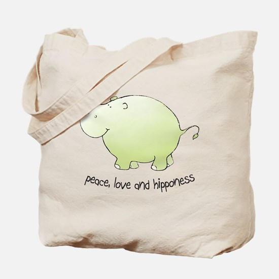 peace, love & hipponess Tote Bag