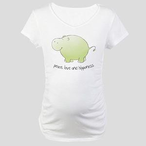 peace, love & hipponess Maternity T-Shirt