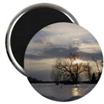 "Winter Sunset 0005 2.25"" Magnet (10 pack)"