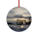 Winter Sunset 0005 Ornament (Round)