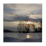 Winter Sunset 0005 Tile Coaster