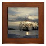 Winter Sunset 0005 Framed Tile