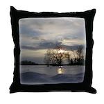 Winter Sunset 0005 Throw Pillow