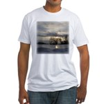 Winter Sunset 0005 Fitted T-Shirt