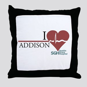I Heart Addison - Grey's Anatomy Throw Pillow