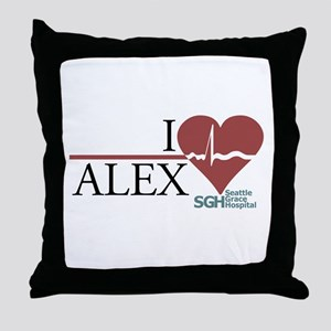 I Heart Alex - Grey's Anatomy Throw Pillow