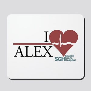 I Heart Alex - Grey's Anatomy Mousepad